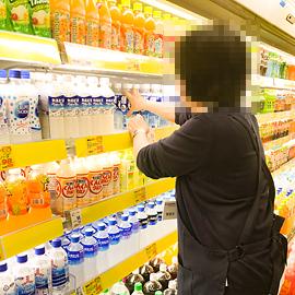 スーパーでの実習(バックヤード)